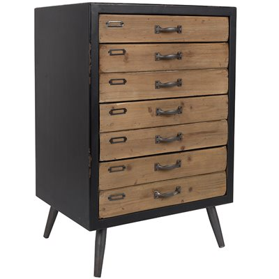 SOL LARGE VINTAGE STORAGE CABINET with Pine Drawers