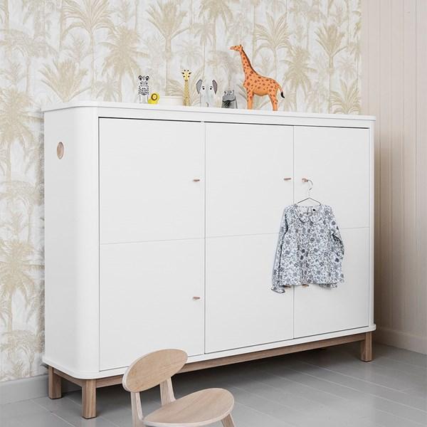 Luxury Storage Cupboard in White and Oak