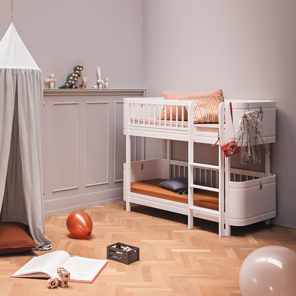buy popular a46a3 62ab5 Oliver Furniture Wood Mini+ Kids Low Bunk Bed in White