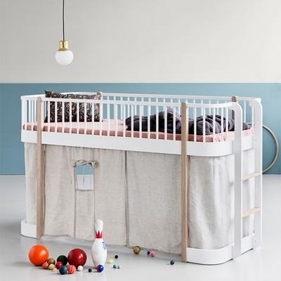 Childrens Luxury Low Loft Bed In White & Oak - Single Beds ...