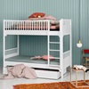 White Contemporary Bunk Beds for Kids