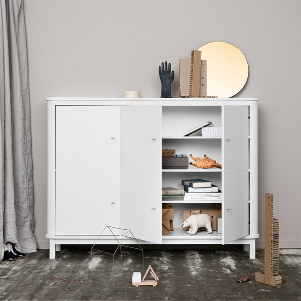 Wood Collection Luxury Storage Cupboard in White