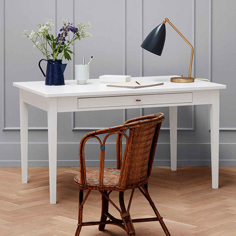 Awe Inspiring Oliver Furniture Small Office Dining Table In White Download Free Architecture Designs Grimeyleaguecom