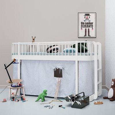 CHILDREN'S LUXURY LOW LOFT BED in White