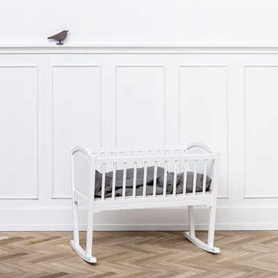OLIVER FURNITURE SEASIDE NURSERY ROCKING BABY CRIB/CRADLE in White