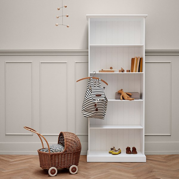 Oliver Furniture Children's Storage Unit with Shelves in White