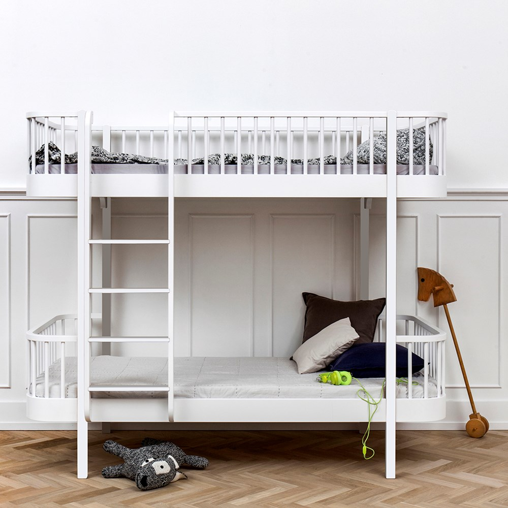 Oliver Furniture Wood Children S Luxury Bunk Bed In White