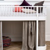 Childrens Low Loft Bed with Den and Curtains