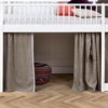 Curtained Den for Kids in the Low Loft Bed