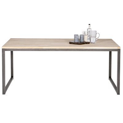 OLIVIA OAK DINING TABLE with Metal Legs