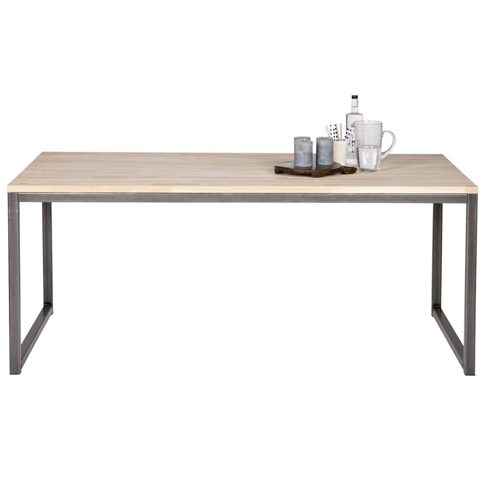 Olivia oak dining table with metal legs dining tables for Dining room tables legs