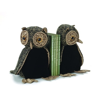 OLIVIA OWL Bird Animal Bookends by Dora Designs