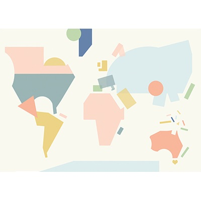OLLI ELLA WORLD MAP POSTER