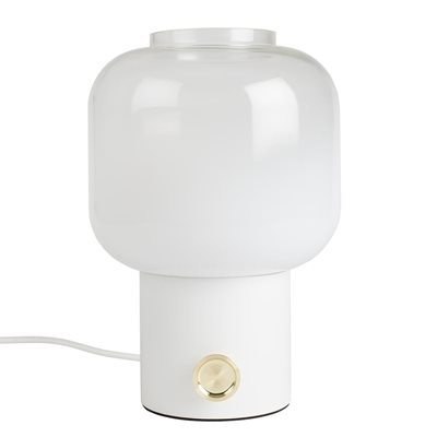 ZUIVER OMBRE GLASS TABLE LAMP in White