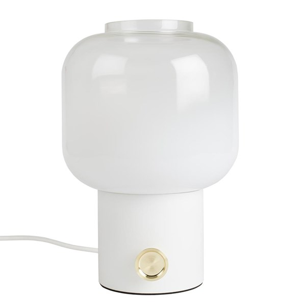 Ombre Glass Table Lamp in White