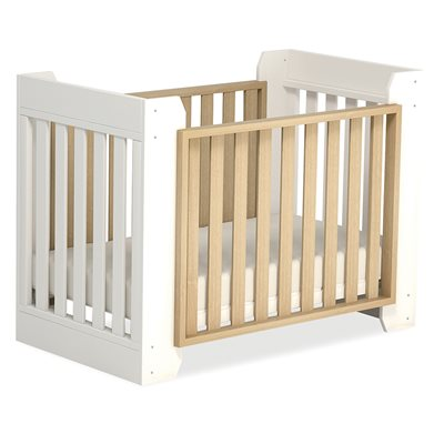 OMNI TRANSFORMER BABY COT BED in Almond & White