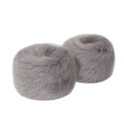 HELEN MOORE FAUX FUR WRIST WARMERS in Opal