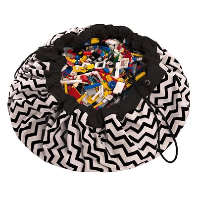 PLAY & GO TOY STORAGE BAG in Black Zigzag Design