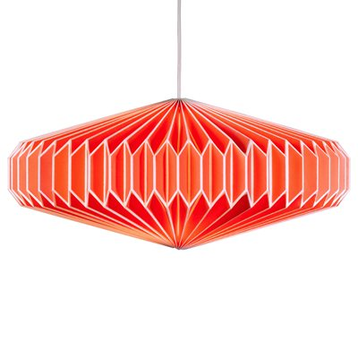 ZODIAC PAPER LAMP SHADE in Goldfish Orange