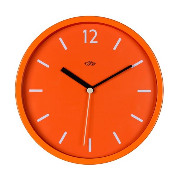 Retro Style Wall Clock in Goldfish Orange