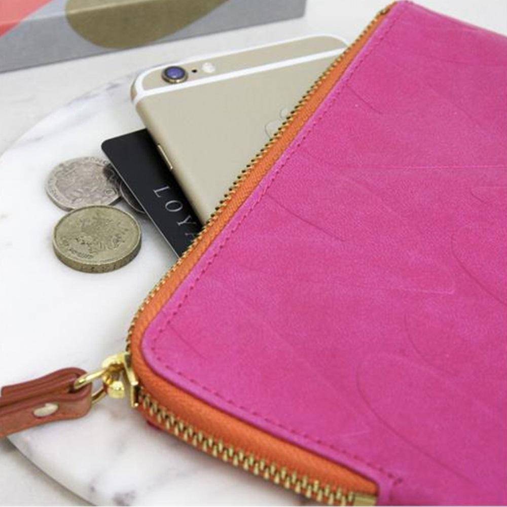 Caroline Gardner Purse In Bright Pink Hearts Gift Ideas