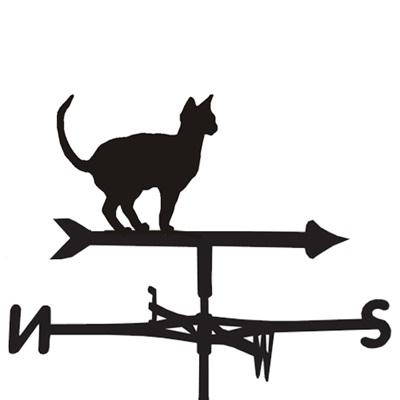 WEATHERVANE in Oriental Siamese Cat Design
