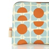 Orla Kiely Cosmetic Bag in Orange and Blue Square Flower Design
