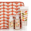 Orla Kiely Geranium Wash Bag Gift Set - Shower Gel, Body Lotion and Hand Cream