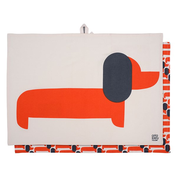 Orla Kiely Set of 2 Dachshund Tea Towels