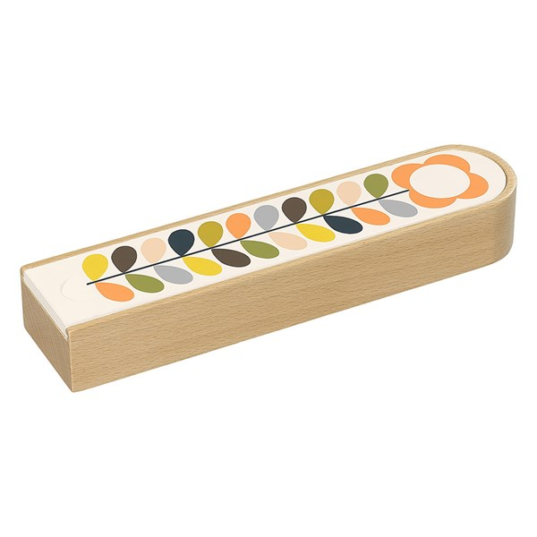 Orla Kiely Wooden Pencil Box in Multi Stem
