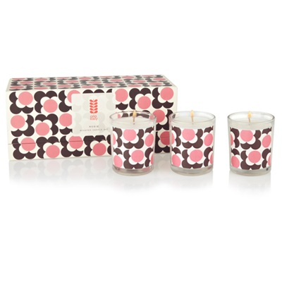 ORLA KIELY Candle Set in Rose, Coriander & Mandarin