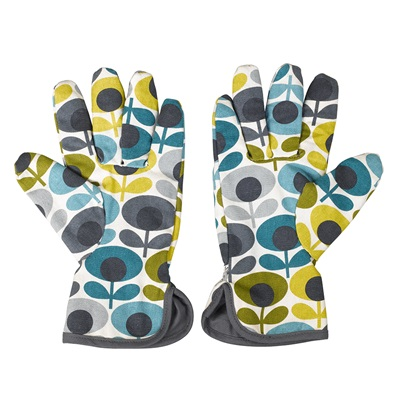 Orla Kiely Potting Gloves in Oval Print
