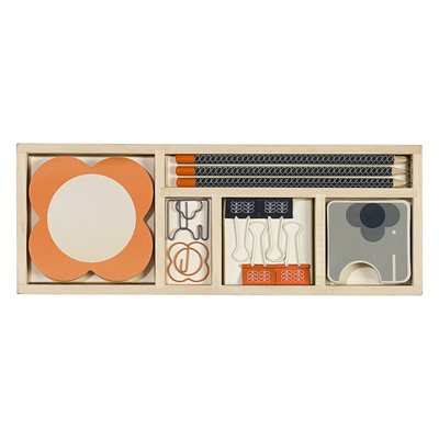 ORLA KIELY WOODEN OFFICE STATIONERY SET