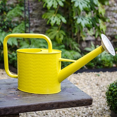 orla kiely watering can in yellow garden accessories cuckooland