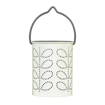 ORLA KIELY TEA LIGHT LANTERN in Grey