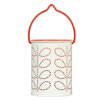 ORLA KIELY TEA LIGHT LANTERN in Orange