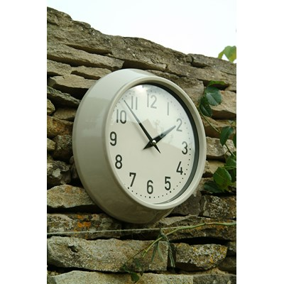 ... Outdoor Clock In Clay Colour By Garden Trading.