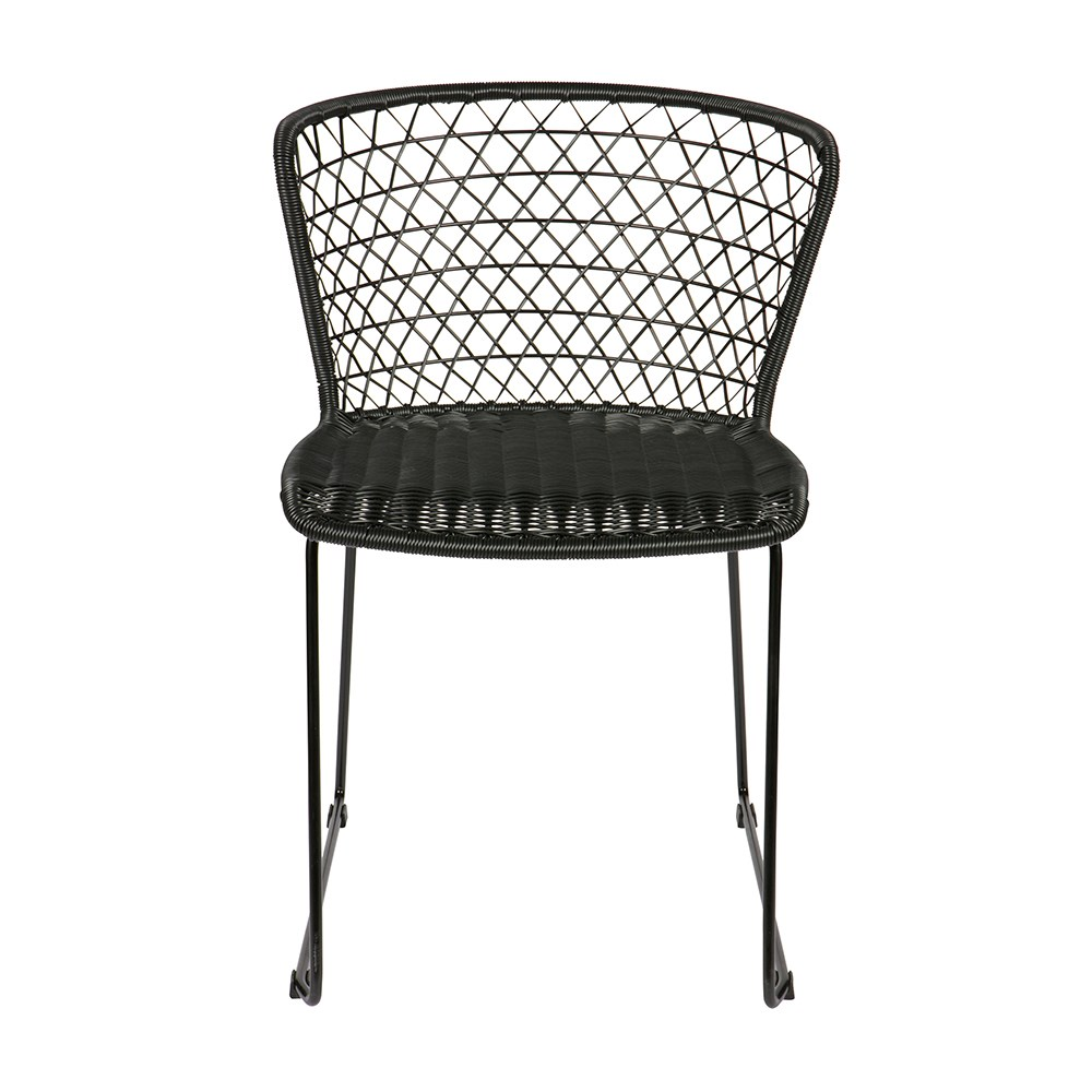 Pair Of Indoor Outdoor Dining Chairs In Black Be Pure