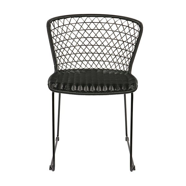 Pair of Indoor and Outdoor Dining Chairs in Black