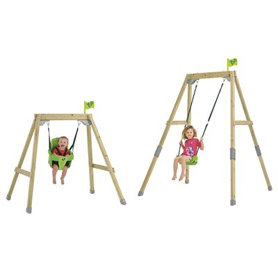 TP TOYS FOREST ACORN GROWABLE SWING SET with Foldaway Seat