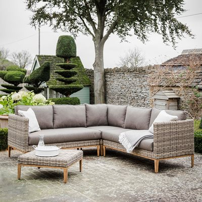 GARDEN TRADING WALDERTON CORNER SOFA SET in All-weather Rattan