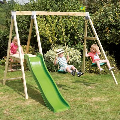 TP TOYS FOREST MULTIPLAY SWINGS AND SLIDE SET