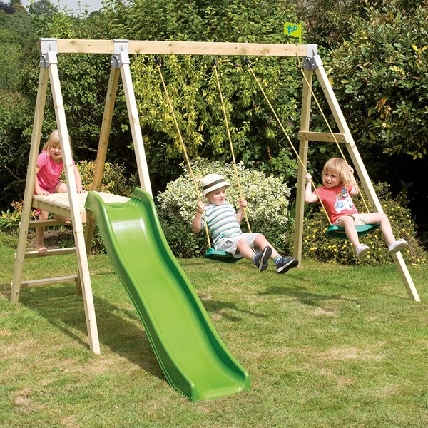 Forest Multiplay Swings and Slide Set