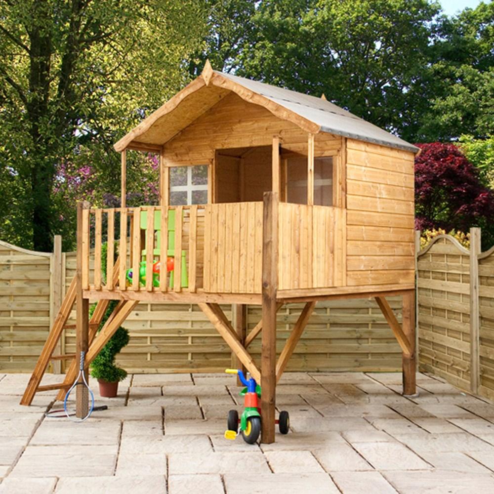 Mercia Kids Honeysuckle Wooden Playhouse With Tower Mercia Garden
