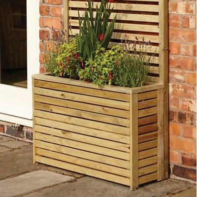 Outdoor Wooden Tall Garden Planter ...