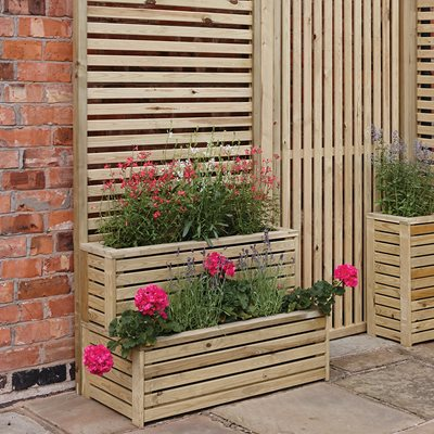 ROWLINSON WOODEN TIER PLANTER