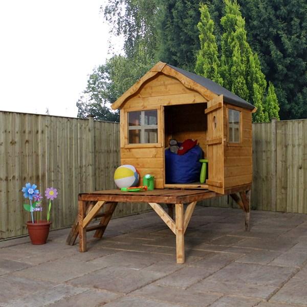 Mercia Kids Pine Snug Playhouse with Tower