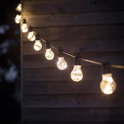 LED FESTOON OUTSIDE LIGHTS with 10 or 20 Bulbs