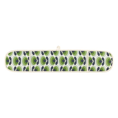 ORLA KIELY DOUBLE OVEN GLOVES in 70s Oval Flower Green Apple Print