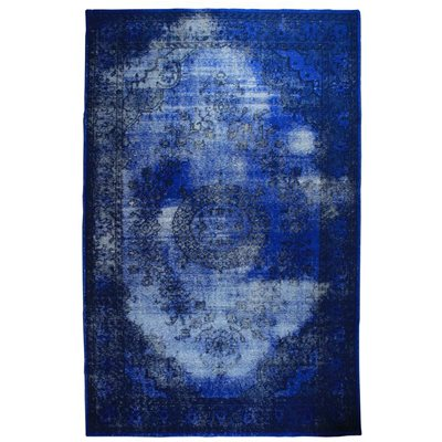 VINTAGE STYLE OVERDYED RUG in Blue